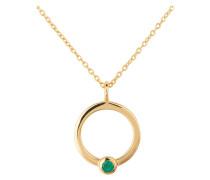 Kette - gold/ grüner onyx