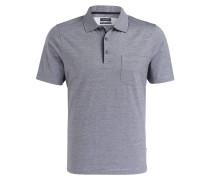 Jersey-Poloshirt - dunkelblau