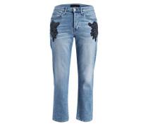 Mom-Jeans - burke blau