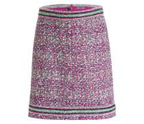 Tweed-Rock - pink/ grün