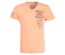 T-Shirt - neonorange meliert