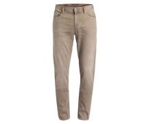 Jeans PIPE Regular Slim-Fit - hellbraun