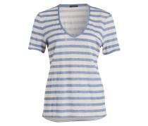 T-Shirt AILIN - blau/ beige gestreift