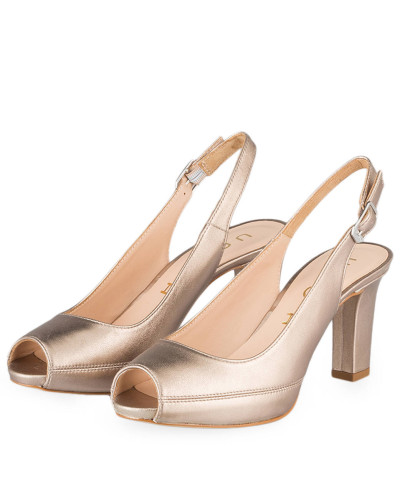 Unisa Damen Sling-Peeptoes NICK - ALTGOLD METALLIC