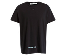 T-Shirt DIAG TEMPERATURE - schwarz/ weiss