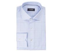 Hemd tailored fit - blau kariert