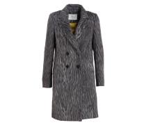 Mantel mit Alpaka-Anteil - dunkelgrau