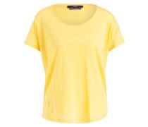 T-Shirt aus Leinen - gelb