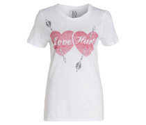 T-Shirt LOVE HURTS - weiss