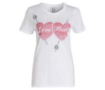 T-Shirt LOVE HURTS - weiss