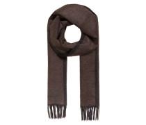 Schal aus Seide - braun/ anthrazit