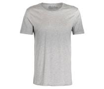 T-Shirt mit Überlänge - grau