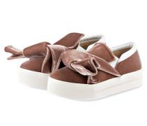 Samt-Sneaker - rosa