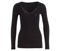 Wolle-/Seiden-Shirt SOFT WOOL LACE