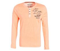 Henley-Shirt - neonorange