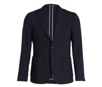 Kombi-Jerseysakko Tailored-Fit - blau