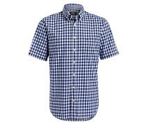Halbarm-Hemd DRAKE Casual-Fit - blau
