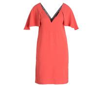 Kleid - koralle/ schwarz