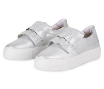 Slip-on-Sneaker - silber metallic