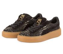 Plateau-Sneaker BASKET PLATFORM EXOTIC SKIN