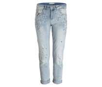 Girlfriend-Jeans - blau