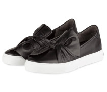 Slip-On-Sneaker BASKET - schwarz