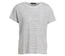 Leinenshirt - schwarz/ weiss