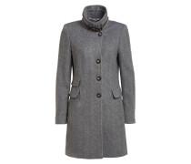 Mantel mit abnehmbarem Kunstfellbesatz