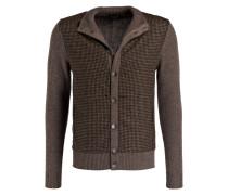 Tweed-Cardigan mit Patches