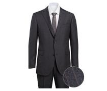 Anzug Shaped-Fit - grau/ braun