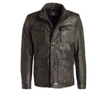 Leder-Fieldjacket