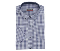 Halbarm-Hemd Modern-Fit - blau