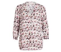 Bluse mit 3/4-Arm - creme/ rosa/ bordeaux