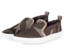 Slip-on-Sneaker - grün/ braun/ beige