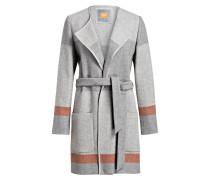 Mantel ORIGA - grau/ orange