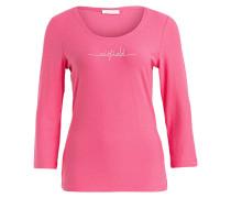 Shirt mit 3/4-Arm - pink