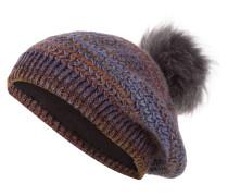 Mütze - flieder/ orange
