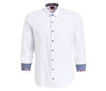 Hemd Level Five Casual body fit - weiss