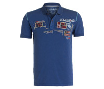 Piqué-Poloshirt ESCHOL - blau