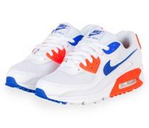 Sneaker AIR MAX 90 - WEISS/ NEONROT/ BLAU