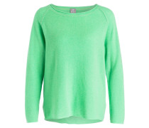 Cashmere-Pullover - neongrün