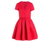 Jacquard-Kleid ROLEO - rot