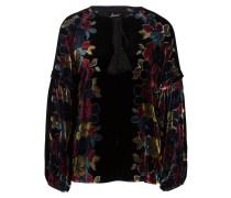 Samt-Bluse mit Seidenanteil