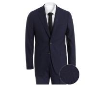 Anzug Slim-Fit mit Leinen-Anteil - blau