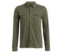 Jerseyhemd J-MARVIN-SL Modern-Fit - oliv