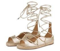 Sandalen im Espadrilles-Stil - gold