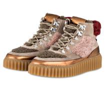 Plateau-Sneaker EVA - khaki/ hellrosa