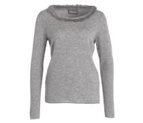 Cashmere-Pullover mit Pelzbesatz