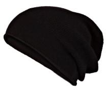 Cashmere-Mütze - schwarz