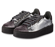 Plateau-Sneaker - grau metallic